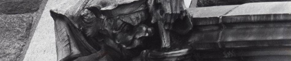 Corner grotesque detail