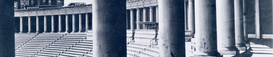 Lewisohn Stadium viewed from between columns